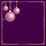 Christmas Pink Purple Ornaments Stock Photography