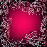 Christmas Pink-red Frame Stock Photo