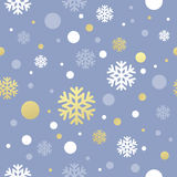 Christmas pink seamless pattern with golden, white Stock Photo