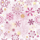 Christmas pink seamless pattern Royalty Free Stock Photos