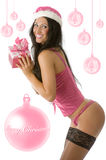 Christmas pinup pink Stock Images