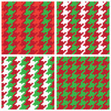 Christmas Pixel Houndstooth Patterns Stock Image