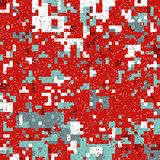 Christmas Pixel Pattern Royalty Free Stock Images