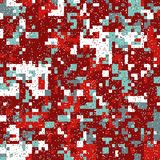 Christmas Pixel Pattern Stock Photos