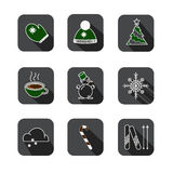 Christmas pixel style icons set. royalty free illustration