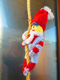 Christmas pixie on string Stock Images
