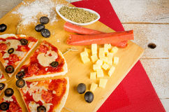 Christmas pizza Stock Images