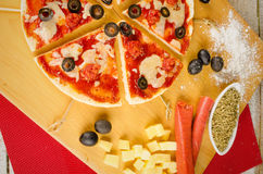 Christmas pizza Stock Photography
