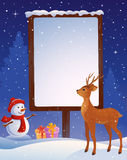 Christmas placard vertical Stock Images