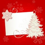 Christmas place card Royalty Free Stock Image