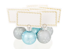 Christmas place cards holders group view Stock Photos