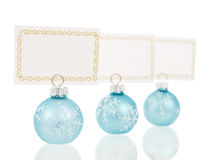 Christmas place cards holders inline view Royalty Free Stock Photos