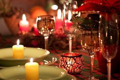 Christmas place setting Royalty Free Stock Photography