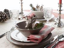 Christmas Place Setting Royalty Free Stock Images