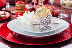 Christmas Place setting Stock Images