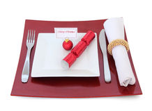 Christmas Place Setting Stock Photo