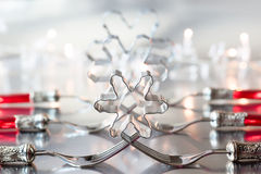 Christmas place setting Royalty Free Stock Photo