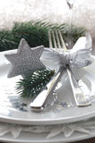 Christmas place setting with star. Place setting for christmas with star Stock Image