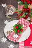 Christmas place setting Stock Photography