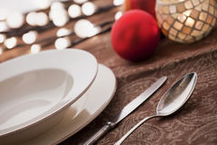 Christmas Place Settings Stock Images