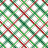 Christmas Plaid. Background illustration of red, white and green plaid pattern Royalty Free Stock Photo