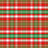 Christmas Plaid. A plaid background pattern in Christmas colors Royalty Free Stock Photo