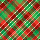 Christmas Plaid. A plaid background pattern in Christmas colors vector illustration