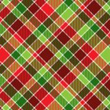 Christmas Plaid. A plaid background pattern in Christmas colors Royalty Free Stock Image