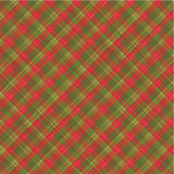 Christmas plaid background, with seamless pattern. Christmas textile red and green plaid background (wallpaper, or scrapbook paper), plus seamless pattern vector illustration