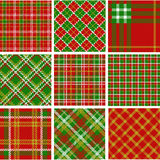Christmas plaid patterns Royalty Free Stock Photo