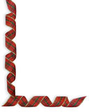 Christmas Plaid Ribbons border Stock Images