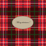 Christmas plaid tablecloth. Stock Image