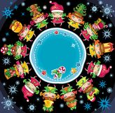 Christmas planet Stock Image