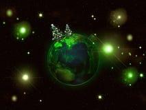 Christmas planet Stock Photos