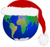 Christmas in planet Earth Stock Photo