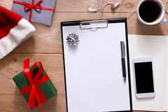 Christmas Planning Background. Prepare To Holidays Royalty Free Stock Photos