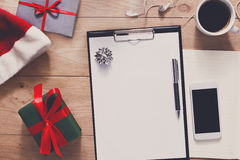Christmas Planning Background. Prepare To Holidays Royalty Free Stock Photography