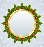 Christmas plaque Royalty Free Stock Images