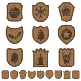 Christmas plaques Stock Photo