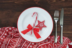 Christmas plate background Royalty Free Stock Images