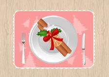 Christmas plate decorate Royalty Free Stock Photography