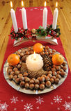 Christmas plate with delicacies Royalty Free Stock Photos