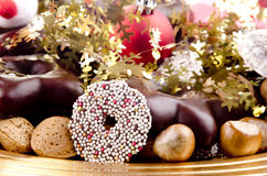 Christmas plate with sweets Royalty Free Stock Photo