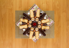 Christmas plate. A plate of Christmas sweets Royalty Free Stock Image