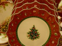 Christmas Plates Royalty Free Stock Photos