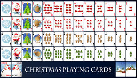 Christmas playing cards Royalty Free Stock Photography