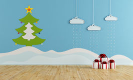 Christmas playroom Stock Image