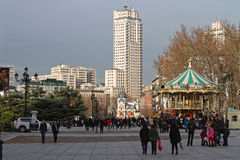 Christmas on Plaza de Oriente Royalty Free Stock Photo