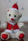 Christmas plush bear Royalty Free Stock Photo