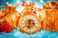 Christmas pocket watch Stock Photography